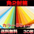 【送料無料】封筒 角2 カラー 85g サイズ 240×332mm ヨコ貼り 30枚【smtb-f】