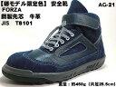 【 椿モデル 】AG-21 【椿 ブルー】 安全靴 中編上 【JIS規格 AOKI】(エンゼル安全靴)