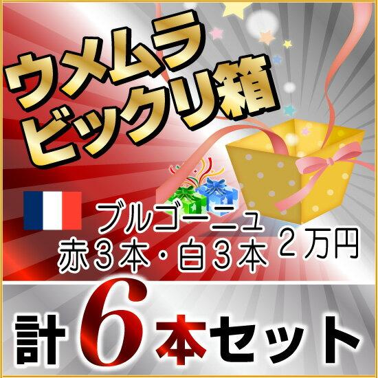 2016年秋 びっくり箱F(ブルゴーニュ赤3本・白3本)(2万円)