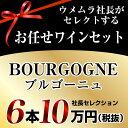 社長セレクション ブルゴーニュ ワイン6本セット (10万円)