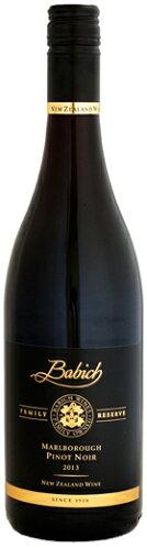 バビッチ・ワインズファミリー・リザーヴ・マールボロ・ピノ・ノワール2013750ml(ニュージーランド・赤ワイン)