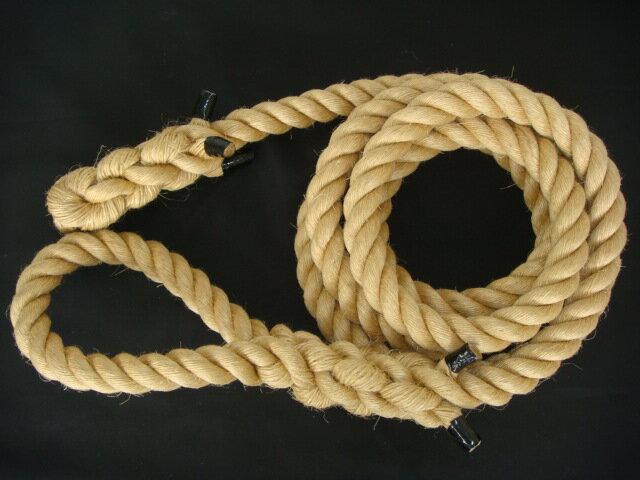 トレーニングロープ/マニラ麻ロープ/ターザンロープ/送料無料/マニラ麻製ターザンロープ(登り綱) オンライン 38mm×5M:ロープのUMESHIMA 店 ターザンロープ/登り綱トレーニング用ロープに最適♪アスレチックロープとしても大活躍♪