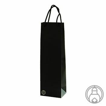 紙袋 1本用 黒色 720mlサイズ 【ラッピング】