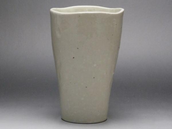 【B級品】白釉 細身な一口カップ [普段使いの食器]