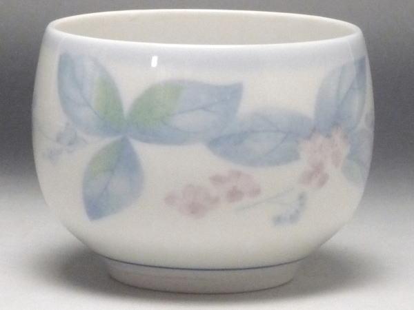 【B級品】淡紫花 玉湯呑み [普段使いの食器]の商品画像