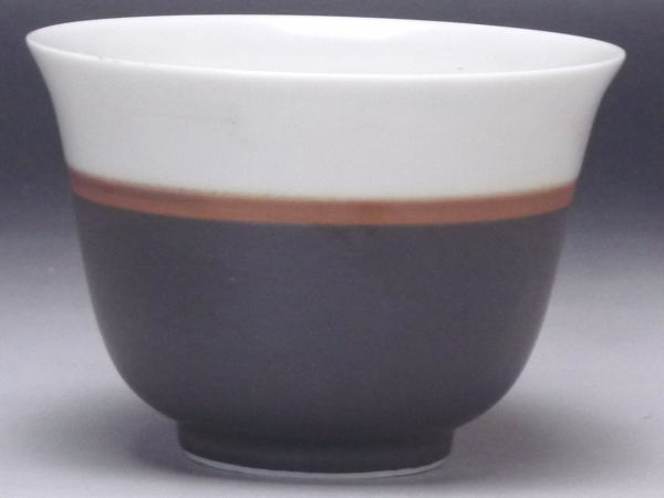 【B級品】黒帯 反千茶(湯呑み) [普段使いの食器]