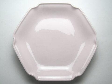 【B級品】パステルピンク 六角皿 [普段使いの食器]