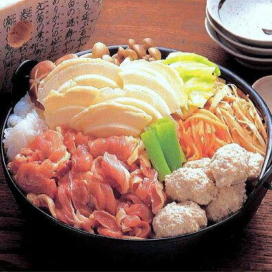 八戸せんべい汁/青森シャモロックせんべい鍋セットC【2〜3人前】