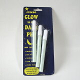 暗闇でぼおっと光る 夜光(蓄光)ペン Glow in the Dark Pen