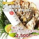 ★松島湾産牡蠣 椿セット 殻付き牡蠣10ヶ・生牡蠣むき身300g (生食用)★