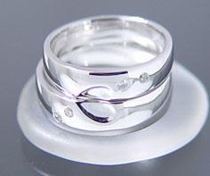 ダイヤモンド マリッジリング 「Heart」 PT900(レディース:1〜20号 メンズ:10〜29号)ダイアモンド ペアリング プラチナ900 結婚指輪 ギフト包装 刻印無料