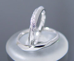 K18WG Lady's & Men's wedding rings (wedding ring) (MS0014)