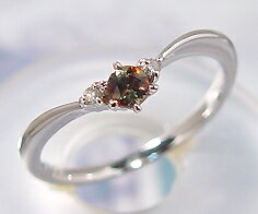 K18WG アンダルサイト ダイヤモンド リング送料無料 指輪 ダイアモンド 多色性 ゴールド 18K 18金 誕生日 刻印 文字入れ メッセージ ギフト 贈り物 ピンキーリング対応可能 多色性でこだわりが光る古い