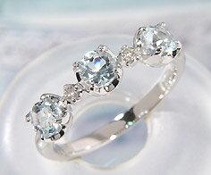 PT100 アクアマリン ダイヤモンド リング指輪 プラチナ100 アクワマリン ダイアモンド 誕生日 3月誕生石 刻印 文字入れ メッセージ ギフト 贈り物 ピンキーリング対応可能 爽快なリズム感に揺れる輝きわかやま