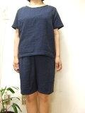 【大きいサイズ4L〜5L】ダブルガーゼTスーツ(半袖Tシャツ+パンツ)(8色)パンツ丈選択可(日本製)