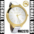 【海外取寄せ】【在庫あり】【今売れてます】【人気上昇ブランド】マイケルコース Michael Kors 腕時計 ウォッチ MK2273【セレブ愛用】【ホワイト】【ゴールド】【ブランド】【インポート】