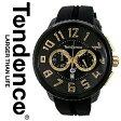 【あす楽】【送料無料】【インポート】テンデンス TENDENCE 腕時計 TG460011 02046011AA ラウンドガリバー Round Gulliver ファーストモデル ブラック&ゴールド