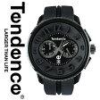 【あす楽】【送料無料】【インポート】テンデンス TENDENCE 腕時計 時計 TG460010 02036010AA ラウンドガリバー Round Gulliver ブラック&ブラック ファーストモデル