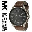【海外取寄せ】マイケルコース Michael Kors 腕時計 時計 MK7068【メンズ】【インポート】【ブランド】ブラック ブラウン レザーベルト MK7066 MK7069 同シリーズ