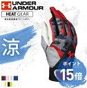 アンダーアーマー ジュニア バッティンググローブ 両手用 ヒートギア 野球 ユース クリーンアップグローブ ベースボール バッティンググラブ 手袋 キッズ ボーイズ 1295584 UNDER ARMOUR