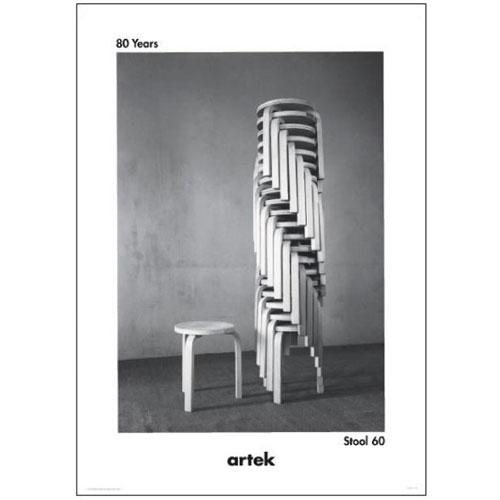 【楽天市場】artek Poster アルテック ポスター Stacking Stool60 スタッキングスツール