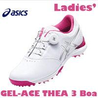 asics【アシックス】GEL-ACE THEA 3 Boa レディース ゴルフ シューズ TGN917 ホワイト/シルバー【ゲルエース】【送料無料】の画像