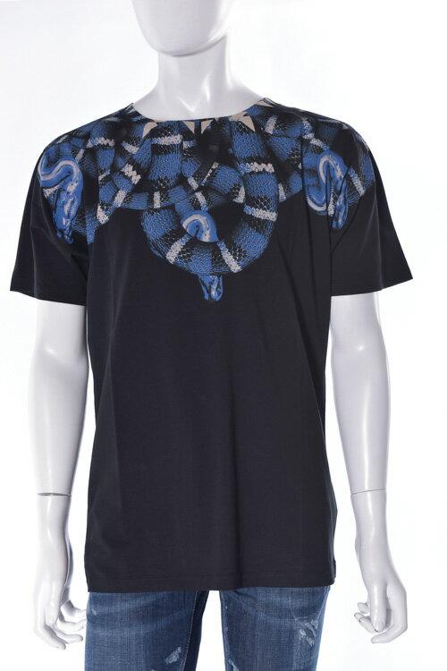 マルセロバーロン MARCELO BURLON Tシャツ 半袖 丸首 メンズ M004 01 ブラック 送料無料 楽ギフ_包装 アウトレット