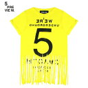 5PREVIEW (ファイブプレビュー) SYBIL FRINGED TEE - NEW 55 (YELLOW) [フリンジ/カットソー/Tシャツ/WOMEN]...