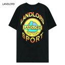 [40%OFF] LANDLORD NEW YORK (ランドロード) LANDLORD SPORT T-SHIRT (BLACK) [Tシャツ カットソー メンズ ユニセックス] [ブラック]