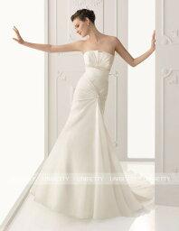 ウェディングドレス サイズオーダー無料 オーダードレス ウエディング マーメイドライン WEDDING DRESS 披露宴 演奏会 結婚式 二次会 WS2290