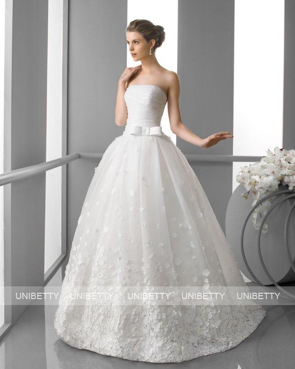 ウェディングドレス サイズオーダー無料 オーダードレス ウエディング プリンセスライン WEDDING DRESS 披露宴 演奏会 結婚式 二次会 ws2446