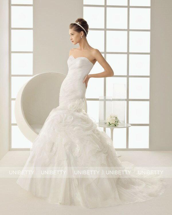 ウェディングドレス マーメイドライン カラードレス 結婚式 花嫁 ブライダル 披露宴 二次会 パーティー ws2570