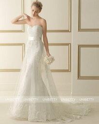 ウェディングドレス サイズオーダー 送料無料 マーメイドライン 結婚式 二次会 披露宴 ws2635