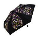 Mauve drops 折りたたみ傘 ラメ入り 50cm mini アニグラム FM-2012 ブラック
