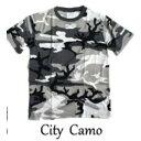 ショッピングアウトドア カモフラージュ Tシャツ( 迷彩 Tシャツ) JT048YN シティー カモ Sサイズ