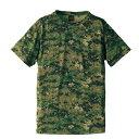 ショッピングイス 吸汗速乾ドライクールナイス カモフラージュ Tシャツ( 迷彩 Tシャツ) CB6589 ピクセル Mサイズ