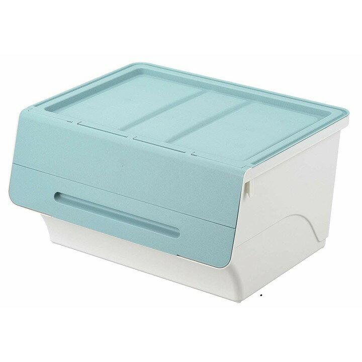 収納ボックス フタ付き 深型 フロック ワイド30 送料無料 前開き 蓋付き オープンボックス 65L おしゃれ 収納 収納ケース 衣装ケース box froq プラスチック ゴミ箱 分別 おもちゃ 衣類 クローゼット ピンク 白 青 茶一人暮らし 収納