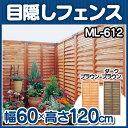 【目隠しフェンス 幅60×高さ120】ルーバーラティス(60cm×120cm)1枚ML-612(ブラウン ダ