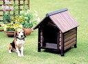 木製ならではのあたたかみが感じられる犬舎です ウッディ犬舎 AWK-440 ダークブラウン ...