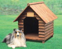 ログハウス風のお洒落な中型犬用犬舎 ログ犬舎 LK-670E