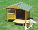 お洒落なロッジ風の中型犬用犬舎 ロッジ犬舎 RK-950