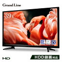 Grand−Line 39V型地デジ/BS/CS110度 ハイビジョン液晶テレビ ブラック GL−C39WS03 39V型 LED液晶テレビ 地上デジタル BSデジタル 110..