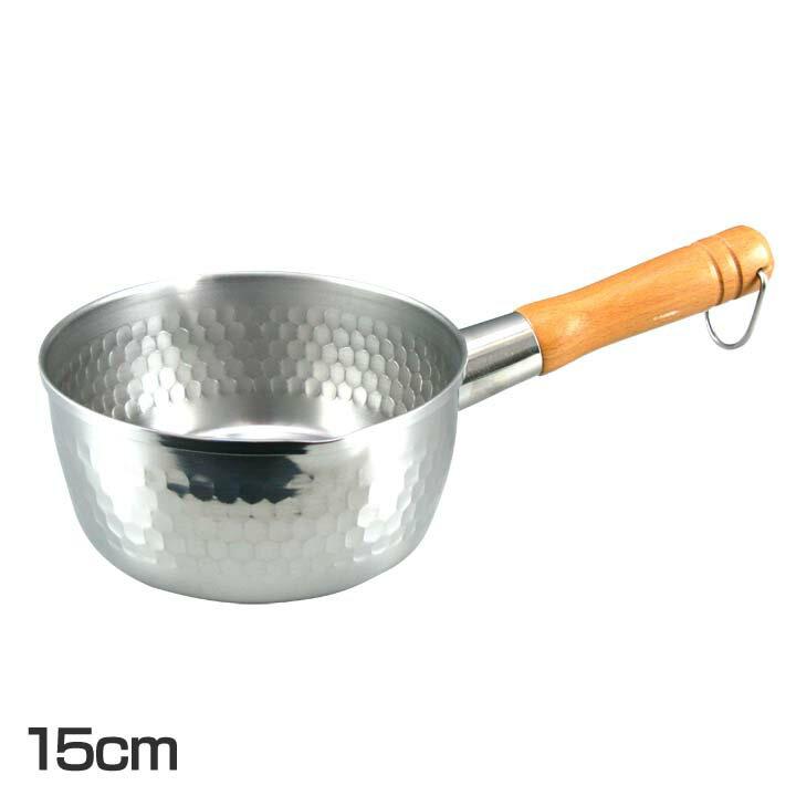 槌目ステンレス雪平鍋(16cm)
