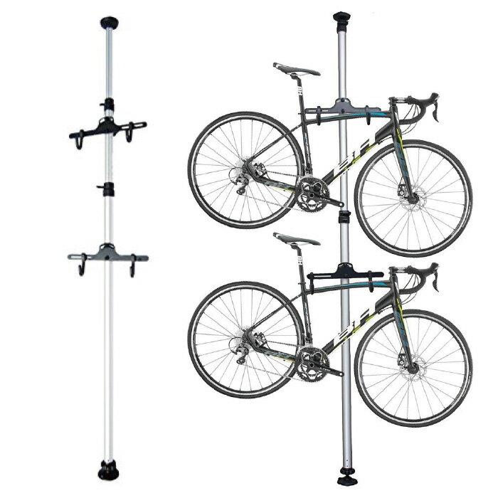 ポール式自転車スタンドBS002送料無料サイクルスタンドサイクルラック自転車ラック突っ張り室内2台自
