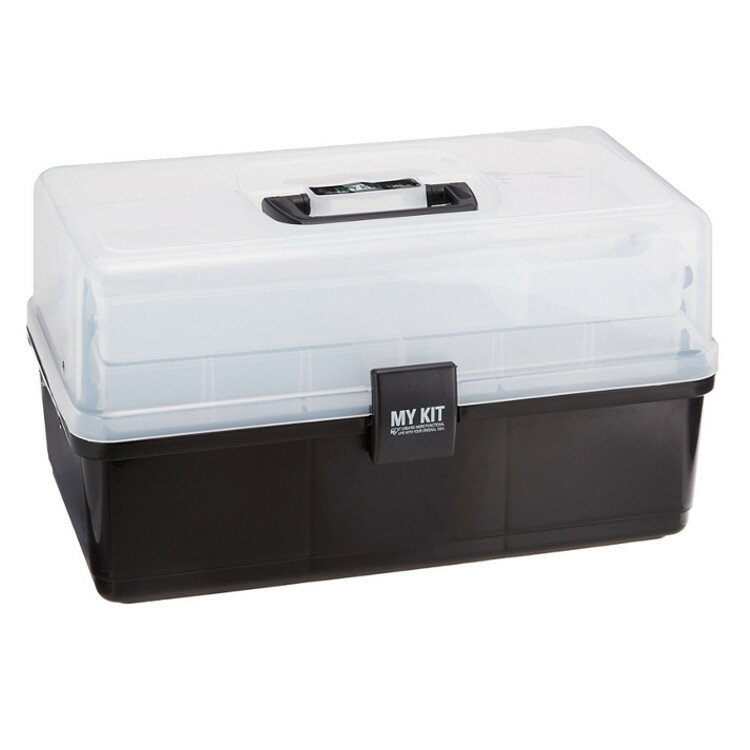マイキット40ブラックグリーン送料無料工具箱工具ケース工具入れハードケース収納ボックス小物裁縫箱アイ