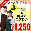 胸当てエプロン 三角巾 セット 選べる5カラー【楽天最安値に...