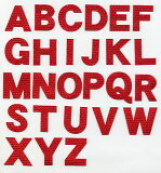 アルファベットワッペン[クロス][3cmサイズ]英文字わっぺん、アップリケ、イニシャル名前入れに【DM便選択可】【アイロン接着】【楽ギフ包装】