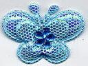 ファッションパッチ  キラキラバタフライ型(ブルー) 2個セット【DM便選択可】【楽ギフ_包装】