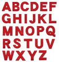 アルファベットワッペン クロス 3cmサイズ 英文字わっぺん アップリケ イニシャル名前入れに【DM便選択可】【アイロン接着】【楽ギフ_包装】