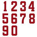背番号ワッペン 20cmサイズ アップリケ、数字ナンバー入れ、スポーツのユニフォームに!【DM便選択可】【楽ギフ_包装】